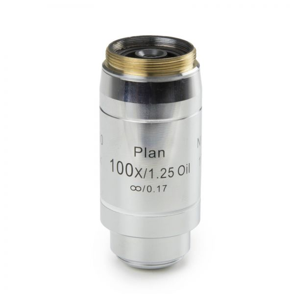 Euromex Infinity EIS 60 mm Plan PLi S100x/1,25 oil immersion objective. Working distance 0,2 mm