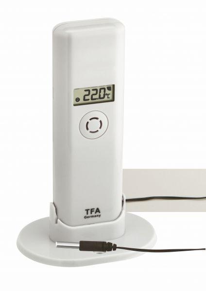 TFA WeatherHub T/F Sender mit wasserfestem Profi-Temperatur-Kabelfühler 30.3302.02