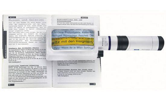 Eschenbach System Vario Plus beleuchtete Standlupe mit Batteriegriff LED 158064