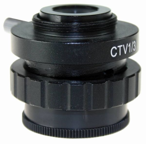 Euromex C-Mount adapter with 0,33x lens for 1/3 inch cameras