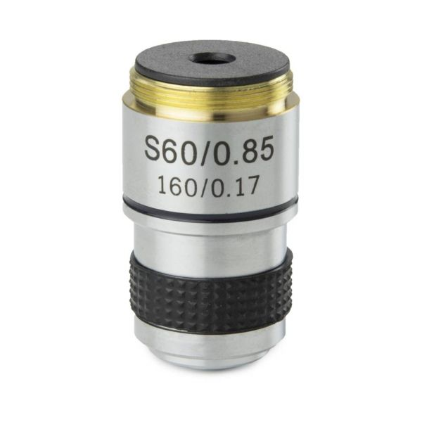 Euromex Achromatic 60x/0.85 objective for MicroBlue. Parafocal 35 mm