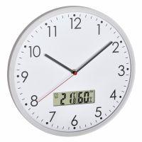 TFA Analoge Wanduhr mit digitalem Thermometer und Hygrometer 60.3048.02
