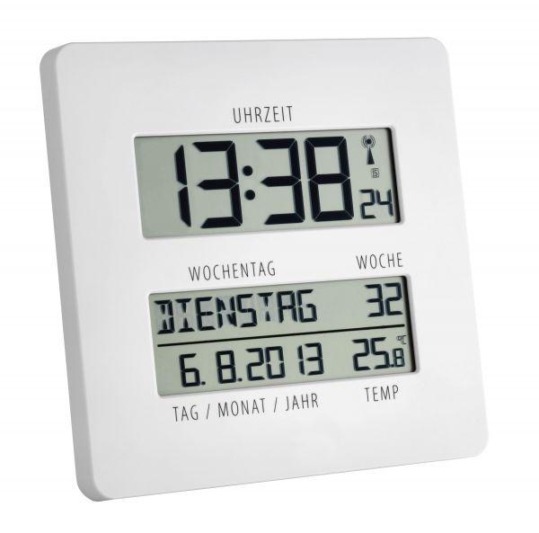 TFA Digitale Funkuhr mit Temperatur TIMELINE 60.4509