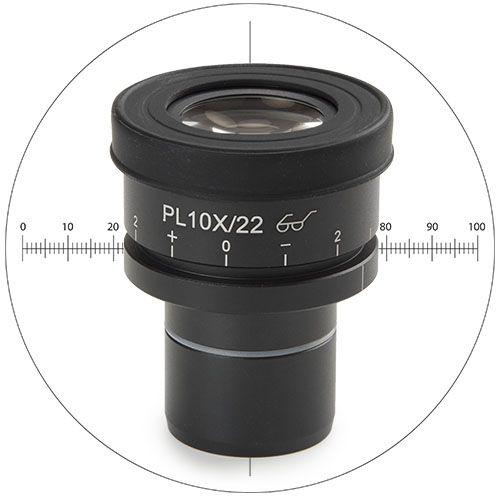 Euromex HWF 10w/22mm eyepiece with 10mm/100 micrometer reticule