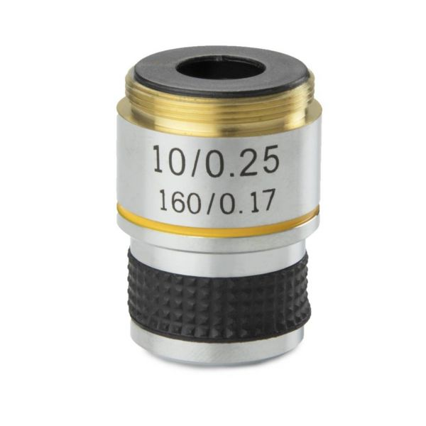 Euromex Achromatic 10x/0.25 objective for MicroBlue. Parafocal 35 mm