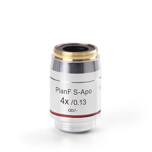Euromex Infinity EIS 60 mm Plan Semi-Apochromatic PLi-Apo Fluarex 4x/0.13 objective. Working distanc