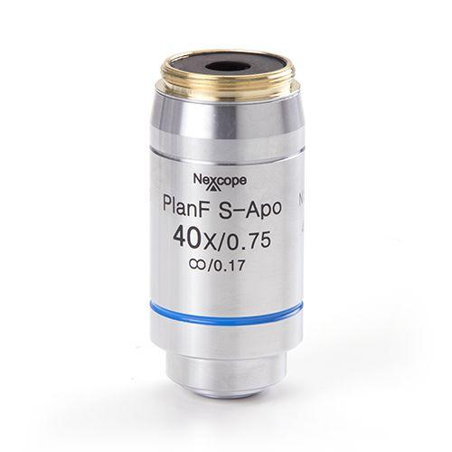 Euromex Infinity EIS 60 mm Plan Semi-Apochromatic PLi-Apo Fluarex S40x/0.75 objective. Working dis