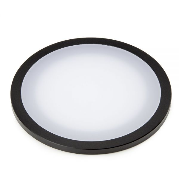 Euromex Standard plexi-glass object plate, opaque, with black border