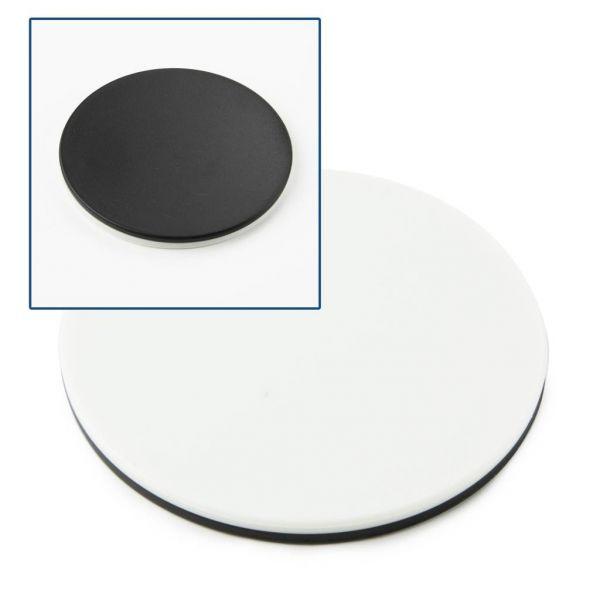 Euromex Tischeinlage schwarz/weiß, Durchmesser Ø 60 mm - ED.9956