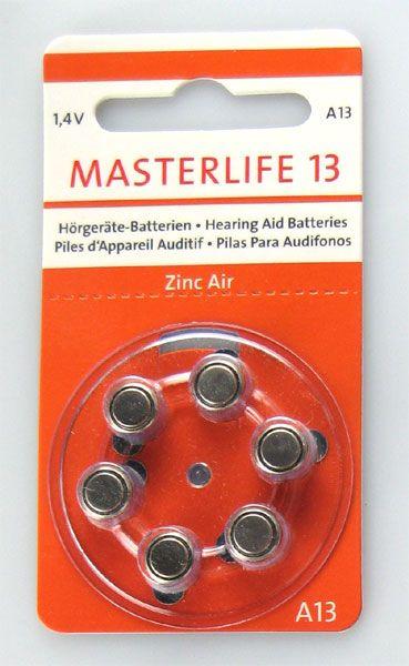 Masterlife Hörgerätebatterie 120er Packung #13