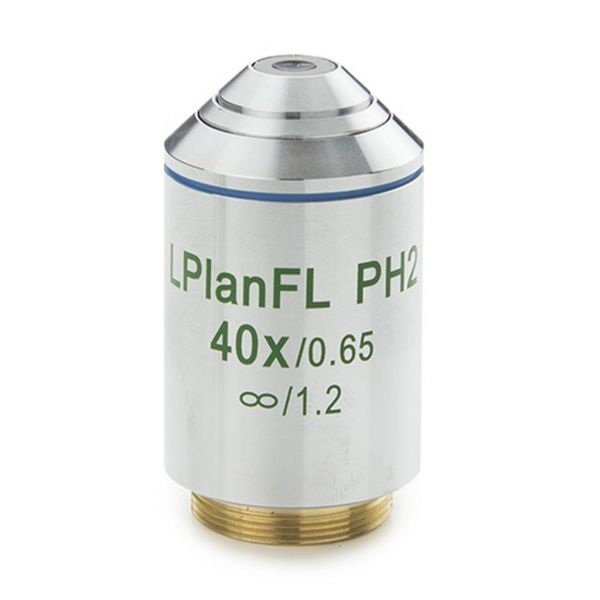 Euromex Plan LWD Phase contrast 40x/0.65 IOS Fluarex objective, corrected for 1,2 mm