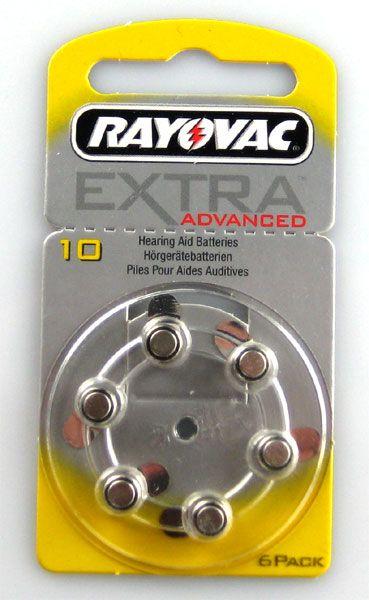 Rayovac Hörgerätebatterie EXTRA Advanced 120er Packung Größe 10