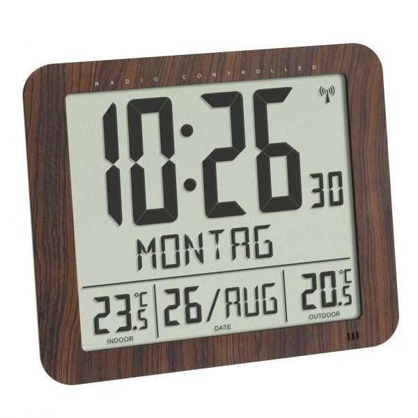 TFA Digitale Funkuhr mit Außen- und Innentemperatur 60.4518