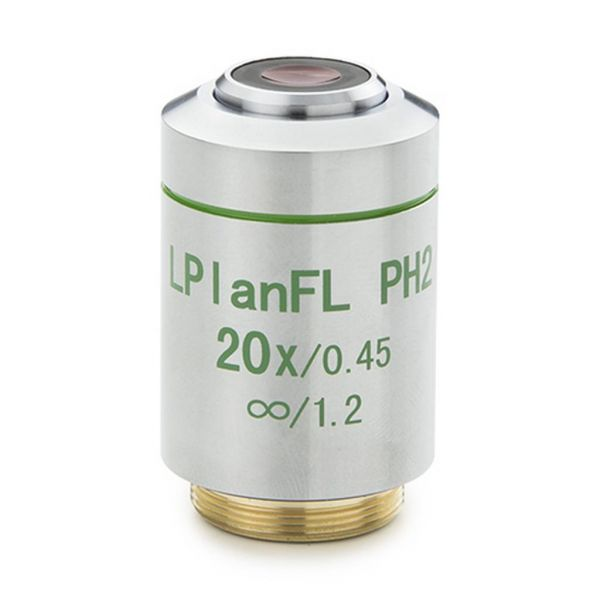 Euromex Plan LWD Phase contrast 20x/0.40 IOS Fluarex objective, corrected for 1,2 mm
