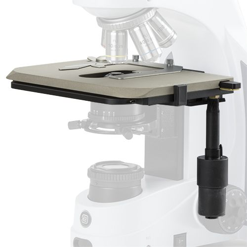 Euromex Large ceramic stage for iScope. Only with new Mikroskops, add /C suffix fter iScope model pa