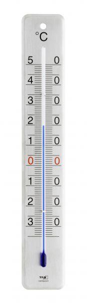 TFA Innen-Aussen-Thermometer Edelstahl gebürstet, KB-TFA