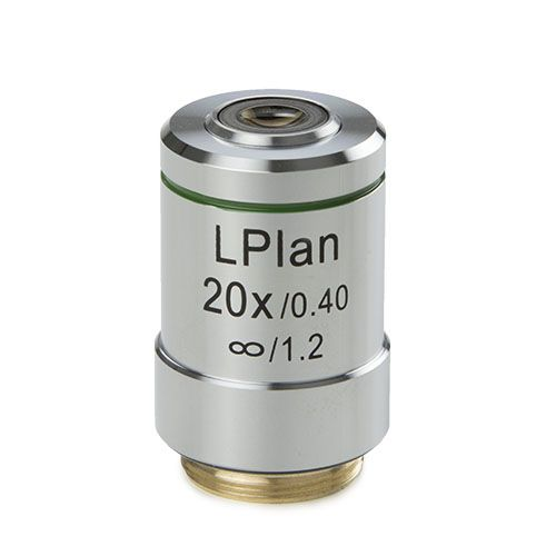 Euromex Plan LWD 20x/0,45 IOS objective, corrected for 1,2 mm