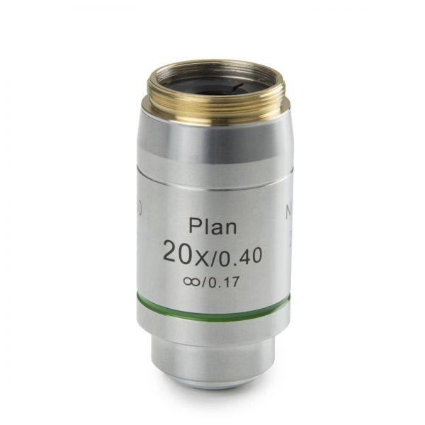 Euromex Infinity EIS 60 mm Plan PlLi 20x/0.40 objective. Working distance 12 mm
