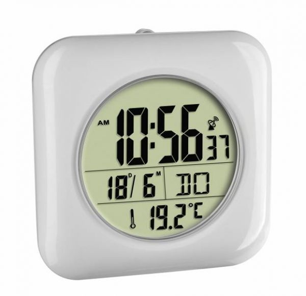TFA Digitale Funk-Badezimmeruhr mit Temperaturanzeige 60.4513.02