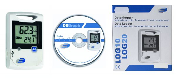 SET LOG20 Thermo-Hygro-Datenlogger