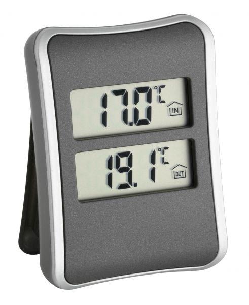 TFA Digitales Innen-Außen-Thermometer 30.1044