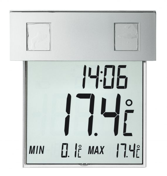 TFA Digitales Fensterthermometer Vision Solar 30.1035