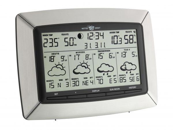 TFA Funk-Wetterstation TEMPUS WETTERdirekt satellitengestützt 35.5046.IT