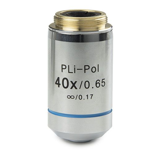 Euromex Plan strain-free PLPOLi 40x/0.65 IOS objective for iScope transmitted polarisation, 0.17 mm