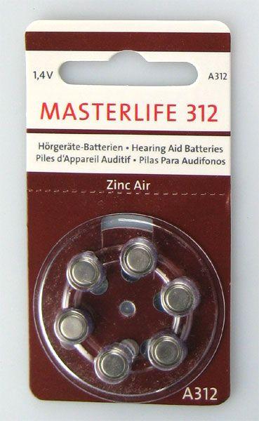 Masterlife Hörgerätebatterie 120er Packung #312