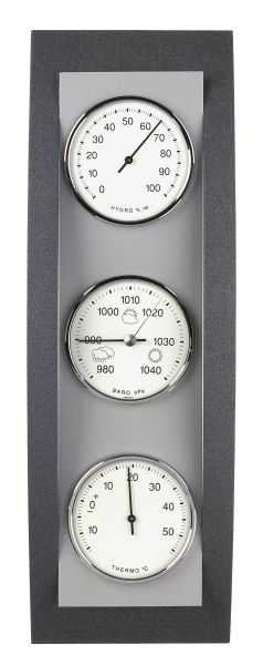 TFA Wetterstation Domatic Buche anthrazit/Aluminium 20.1082.17