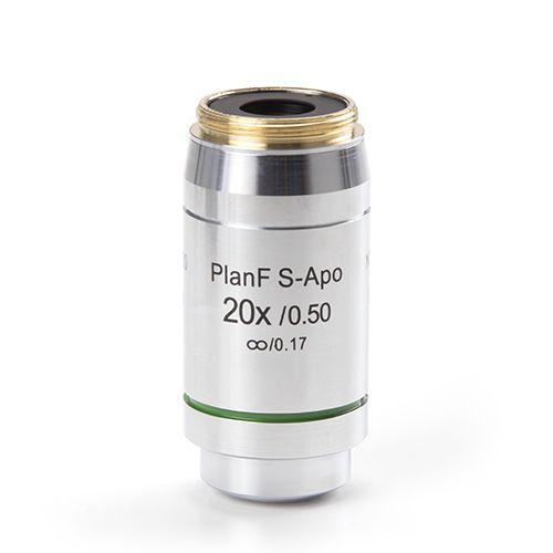 Euromex Infinity EIS 60 mm Plan Semi-Apochromatic PLi-Apo Fluarex 20x/0.50 objective. Working dista