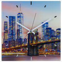 TFA Analoge Funk-Wanduhr aus Glas NEW YORK 60.3531.90