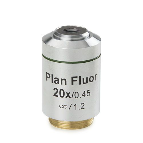 Euromex Plan LWD 20x/0,45 IOS Fluarex objective, corrected for 1,2 mm
