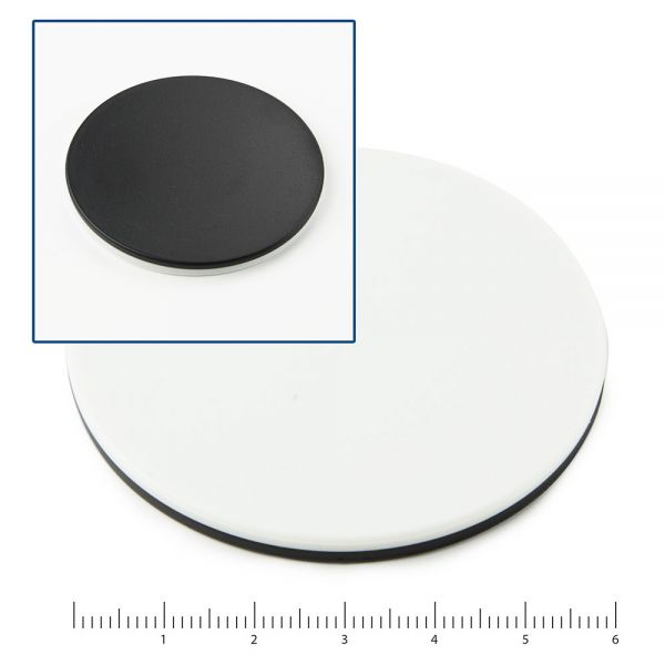 Euromex Pair of object stage plates (black/white)