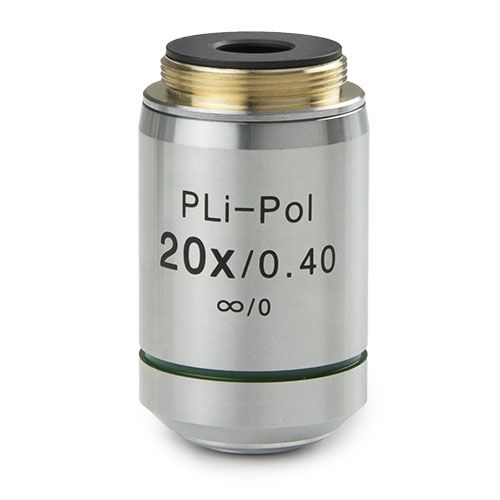 Euromex Plan strain-free PLPOLi 20x/0.40 IOS objective for iScope transmitted polarisation, 0.17 mm