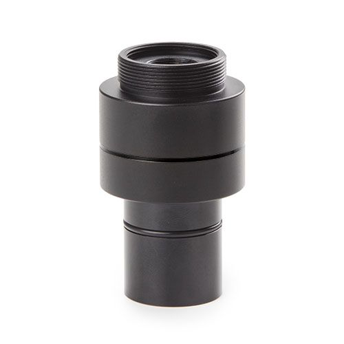 Euromex C-mount adapter with 0.37x lens, fixed focal length and short barrel, for standard 23.2 mm t