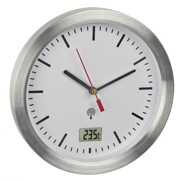 TFA Analoge Funk-Badezimmeruhr mit Temperaturanzeige 60.3539