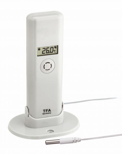 TFA WeatherHub T/F Sender mit wasserfestem Temperatur-Kabelfühler 30.3304.02