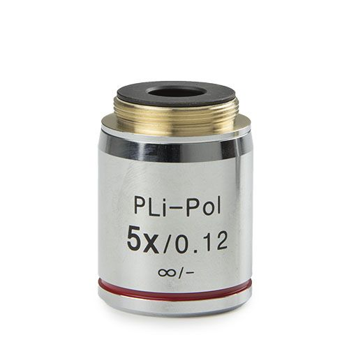 Euromex Plan strain-free PLPOLi 4x/0.10 IOS objective for iScope transmitted polarisation, 0.17 mm c