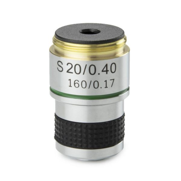 Euromex Achromatic 20x/0.40 objective for MicroBlue. Parafocal 35 mm