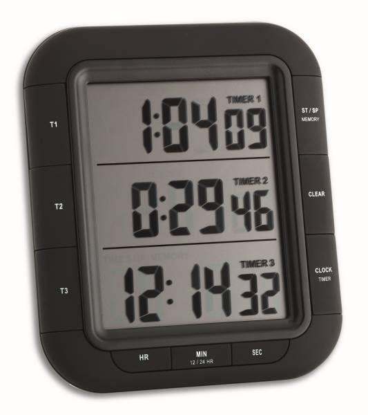 """TFA Elektronischer 3-fach Timer """"Triple Time XL"""" 38.2023"""