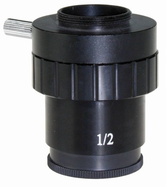 Euromex C-Mount adapter with 0,50x lens for 1/2 inch cameras