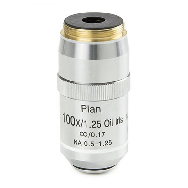 Euromex Infinity EIS 60 mm Plan PLi S100x/1,25 oil immersion objective with built-in iris diaphragm