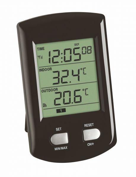 TFA Funk-Thermometer Ratio mit Funkuhr 30.3034.01