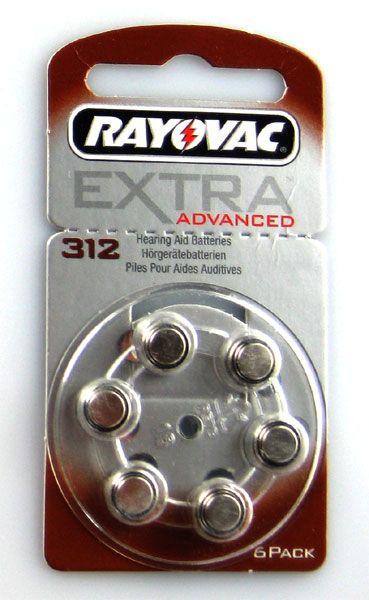Rayovac Hörgerätebatterien EXTRA Advanced 60er Packung #312