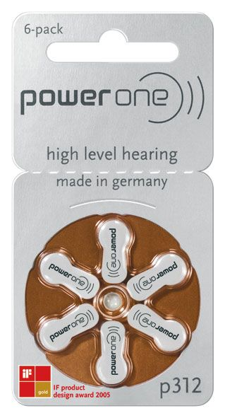 Power One Hörgerätebatterien #312