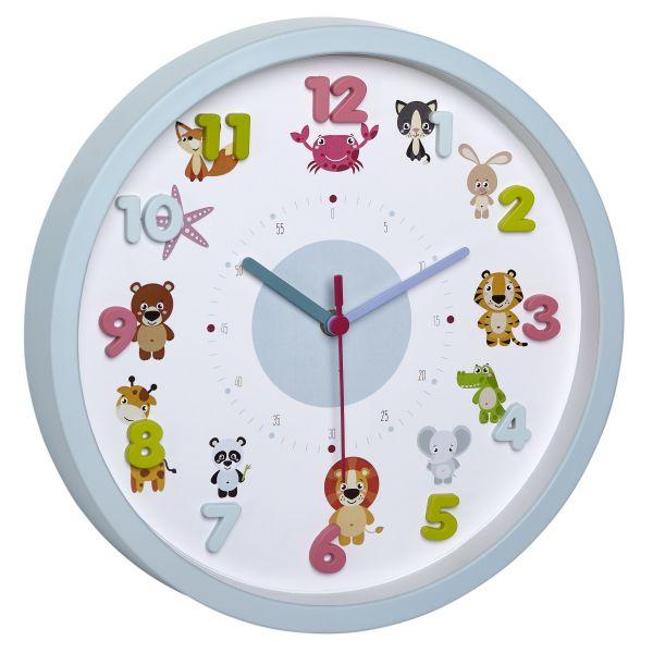 TFA Kinder-Wanduhr LITTLE ANIMALS | LITTLE MONSTERS 60.3051