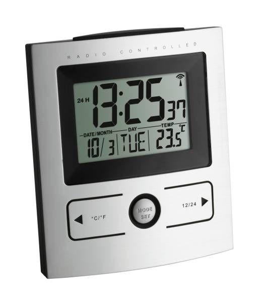TFA Funk-Wecker mit Temperatur 60.2512