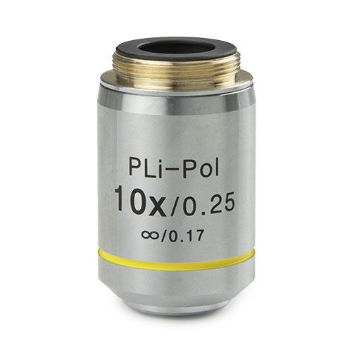 Euromex Plan strain-free PLPOLi 10x/0.25 IOS objective for iScope transmitted polarisation, 0.17 mm