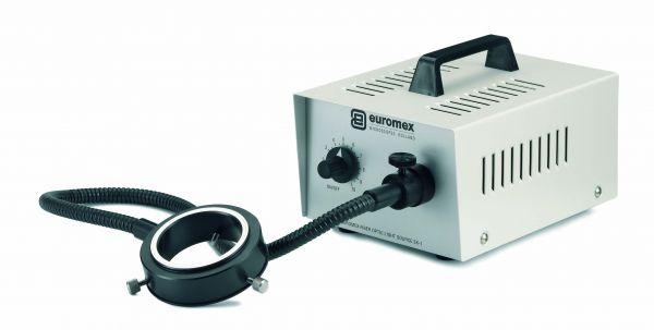 Euromex Ringleuchte mit 60 cm flexiblem Lichtleiter, Glasfaser 8 mm ø - LE.5239